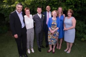 L to R Dr Arash Afshar, Dr Leonie Price, Dr Alex Eaton, Dr Ranjit Gill, Dr Lucy Housley, Dr Carina Bonnici, Dr Naomi Lalloo.